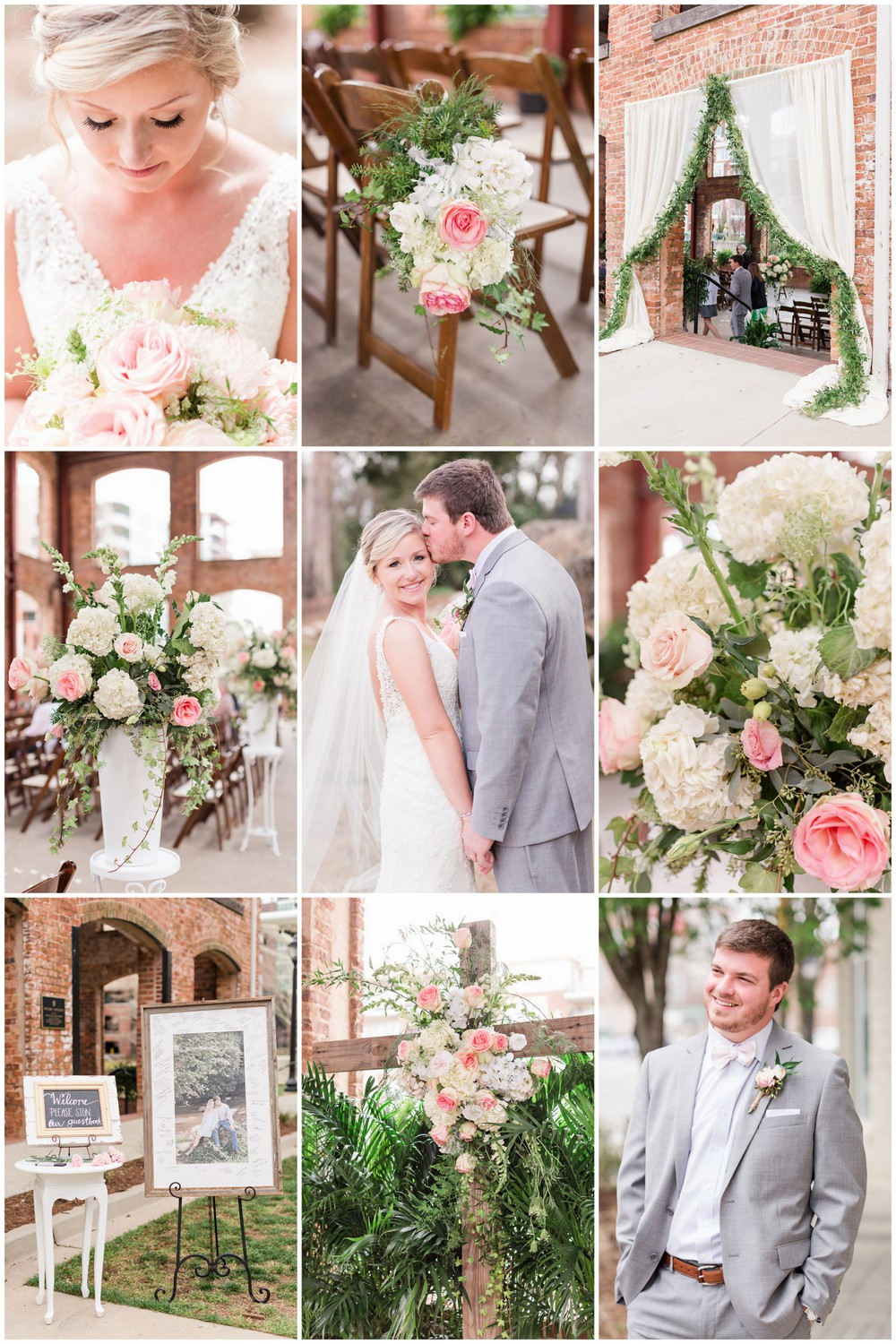 Blush Pink and White Spring Wedding
