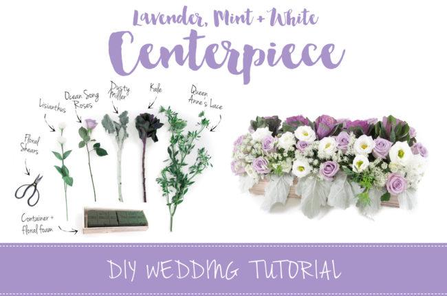 Sweet + Simple Lavender Mint & White DIY Wedding Centerpiece Tutorial