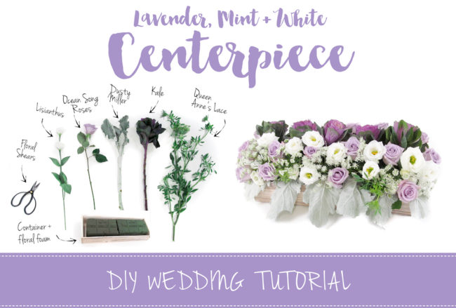 Sweet + Simple Lavender Mint & White DIY Wedding Centerpiece Tutorial