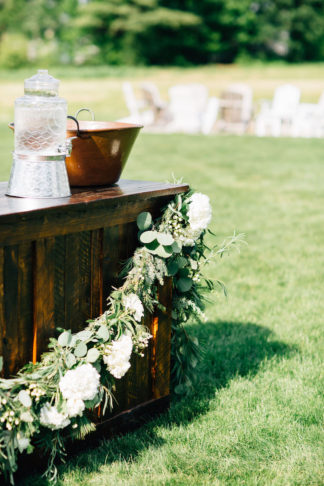 Elegant barn wedding decorations