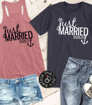 Just Married Nautical Honeymoon Shirts