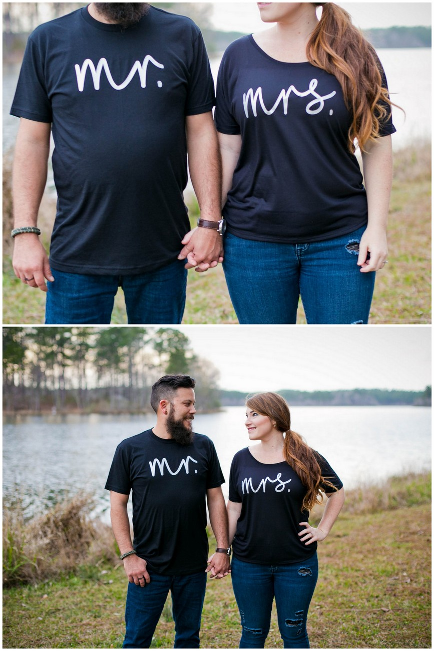 Mr + Mrs Honeymoon shirts