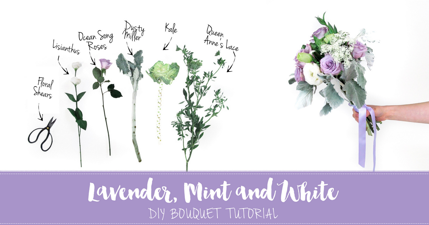 Lavender Mint DIY Wedding Bouquet