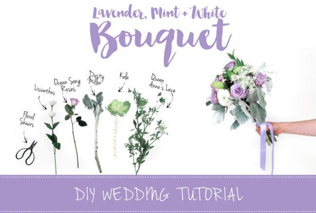 Sweet + Simple Lavender Mint & White DIY Bouquet Tutorial