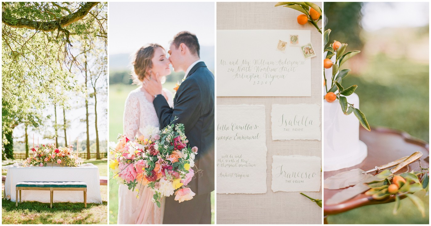 Tangerine Coral Blush Spring Wedding Theme