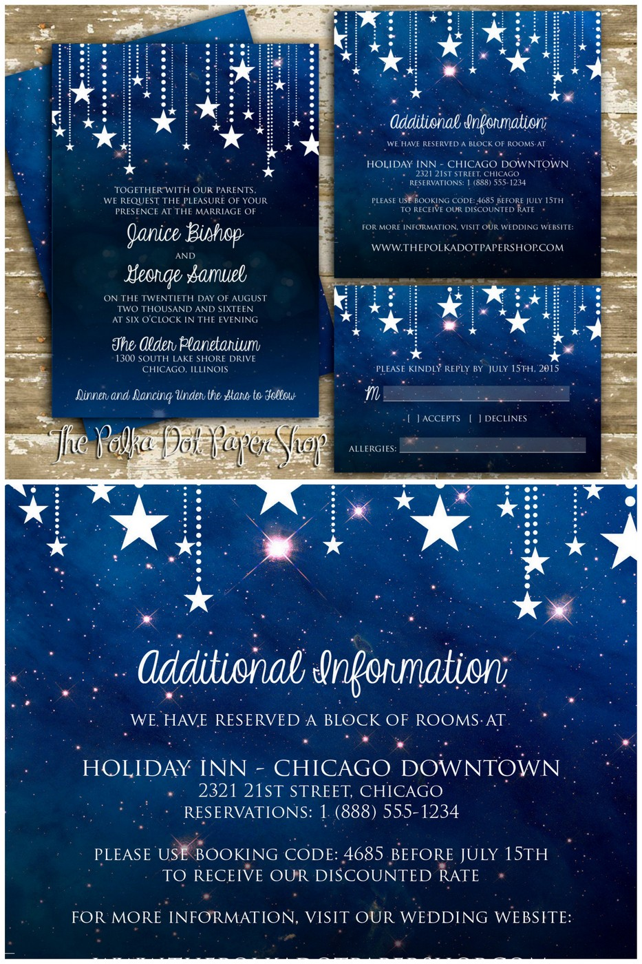 16 Starry Night Celestial Wedding Invitations To Light Up