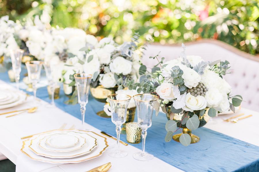 Dusty Blue And Gold Wedding Ideas 20