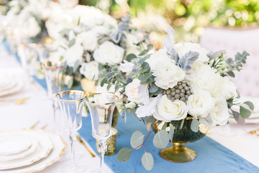 Dusty Blue and Gold Wedding Ideas