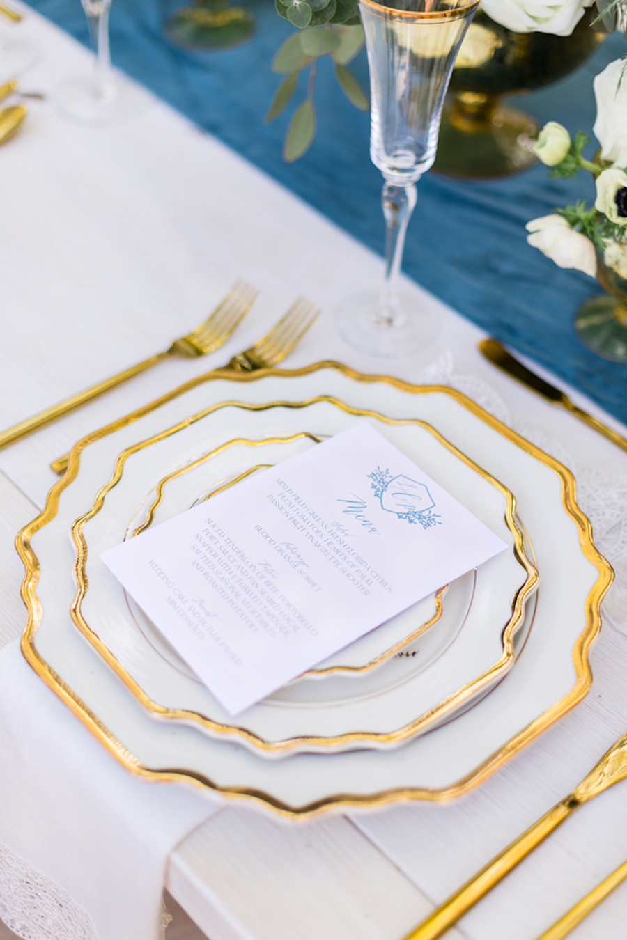 Dusty Blue and Gold Wedding Ideas