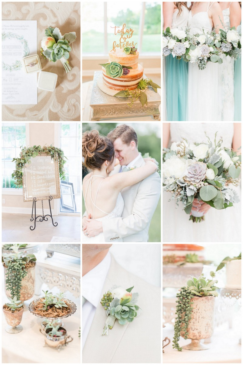 Pretty Greenery and Succulent Wedding Theme with Pastel Touches!