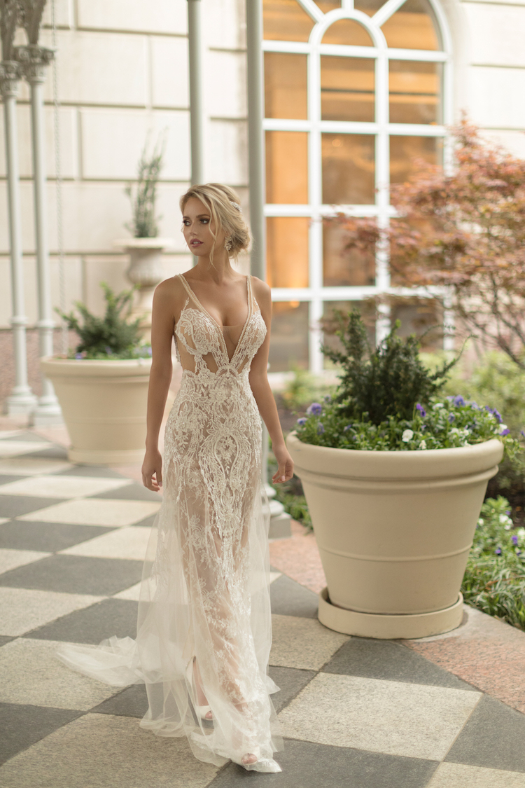 Sensual wedding dress