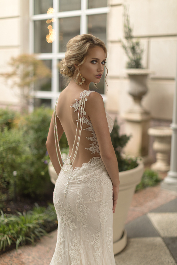 Sensual wedding dress