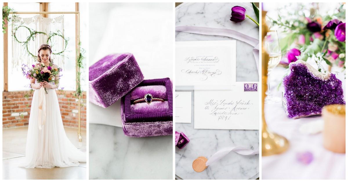 Ultra Violet Boho Wedding