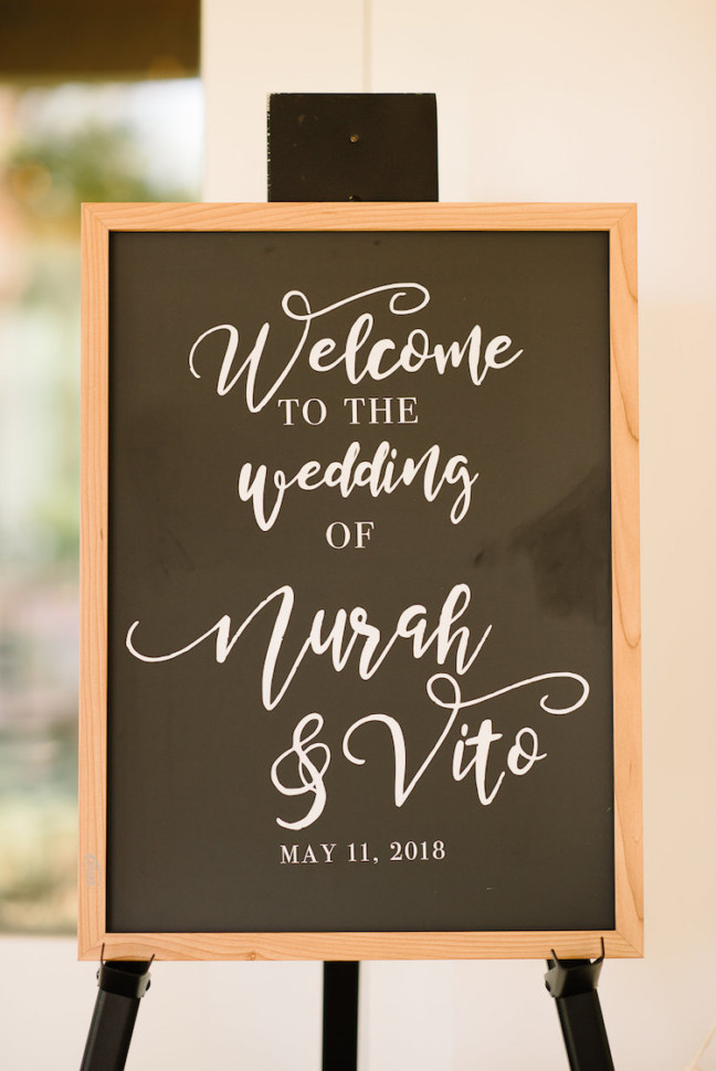 Wedding Money Saving Tips - Purchase a customized Wedding Decal for a jumbo Signage, Menu or Order of Service
