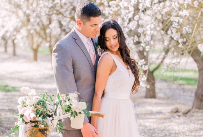 Incredible Blossom-filled Almond Orchard Wedding
