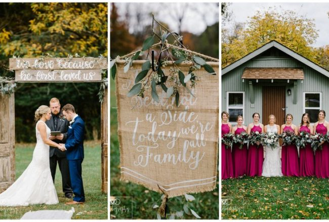 Elegantly Rustic Fall Barn Wedding in Ohio {ENV Photography USA}