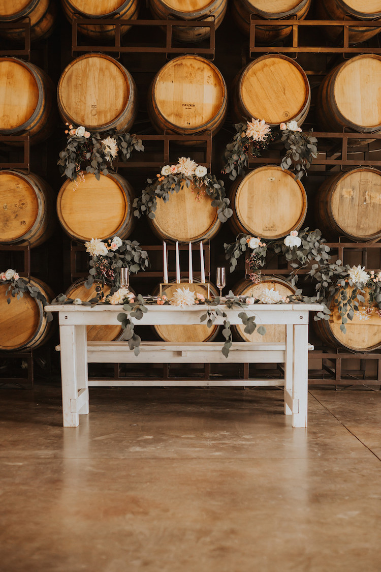 Absolutely Gorgeous Blush And Gold Rustic Winery Wedding