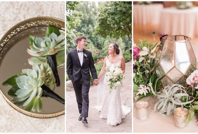 Burgundy, Blush + Gold Wedding with Peony and Succulent Deets {Jennifer Stuart Photography}