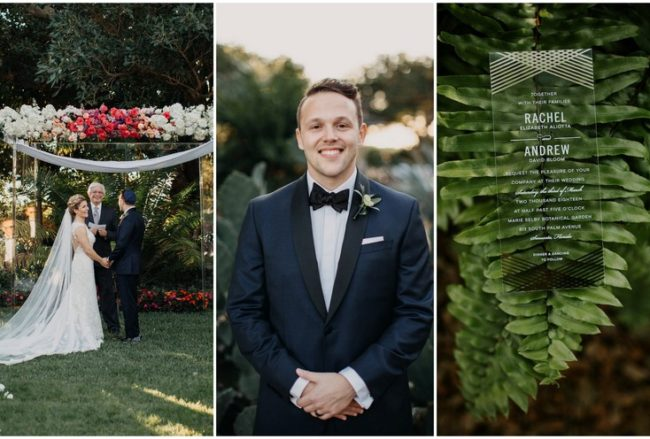 Modern Acrylic Botanical Garden Wedding with Floating Florals!