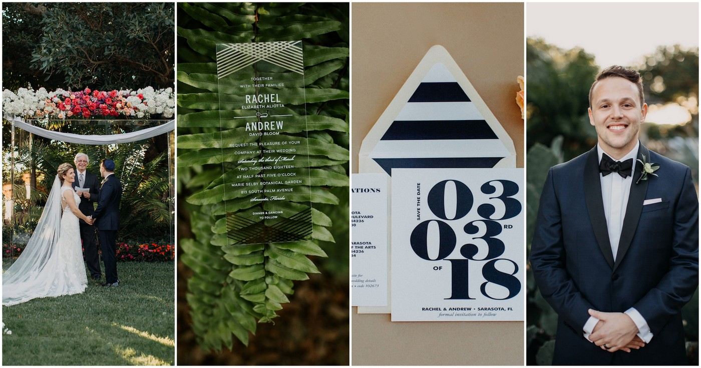 Modern Acrylic Botanical Garden Wedding Ideas