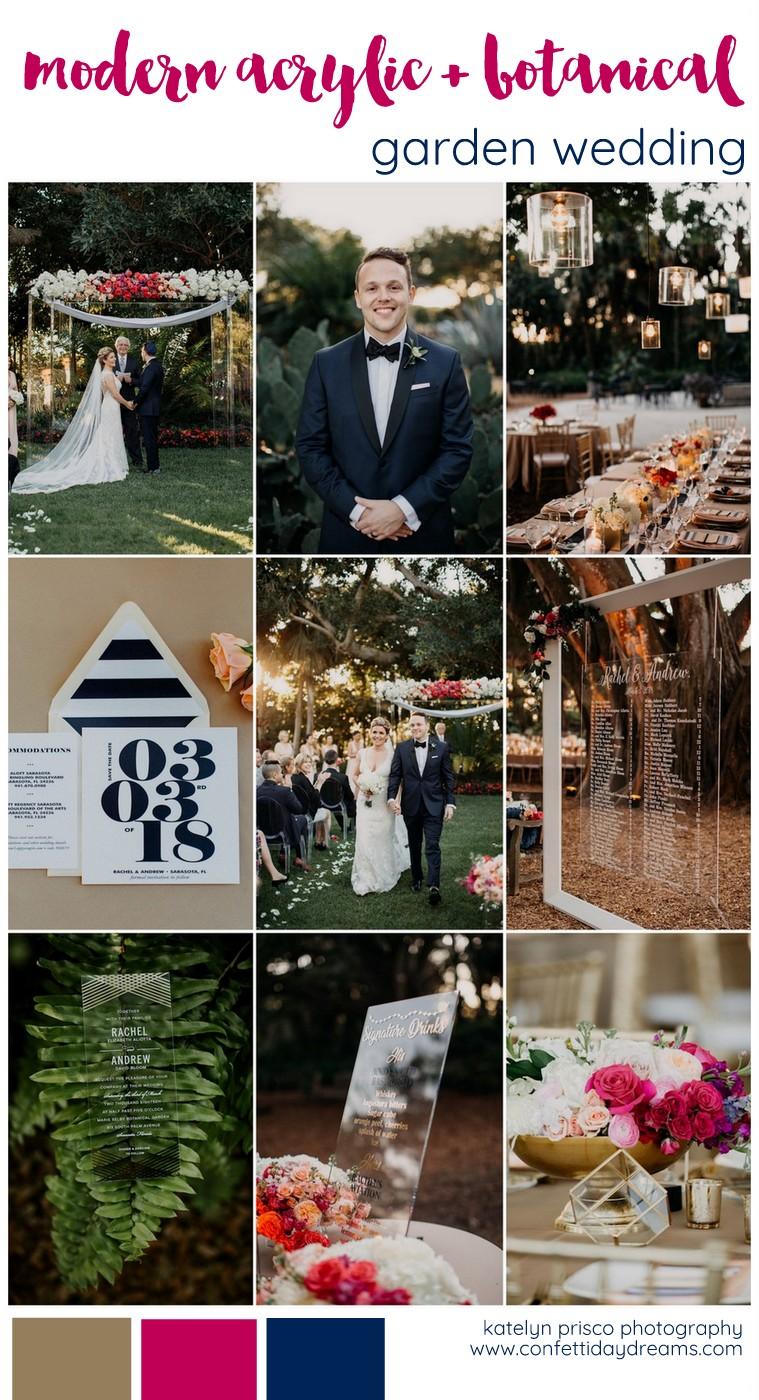Modern Acrylic Botanical Garden Wedding Ideas