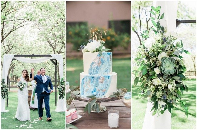 Dusty Blue, Succulent-Filled Arizona Garden Wedding at Venue at the Grove