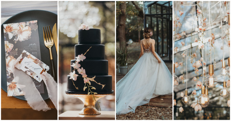 Black, Blush and Nude Wedding Ideas
