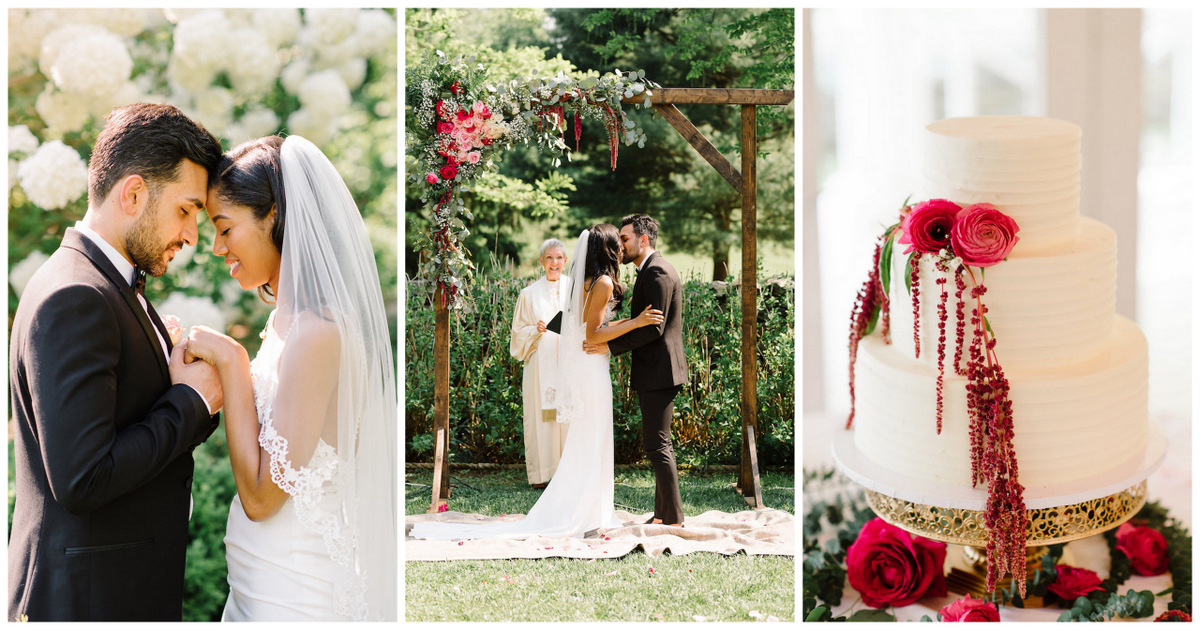 Cerise and Greenery Garden Wedding