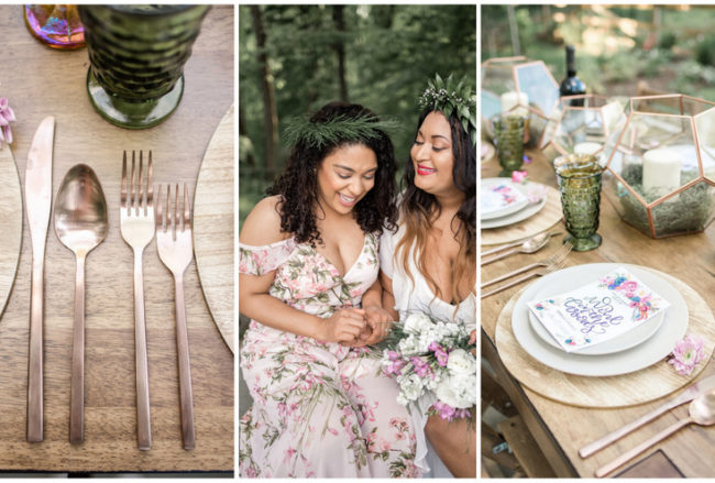 Earthy Boho Bridesmaids Brunch in the Forest {Missy Freeman + Jessica J Events}