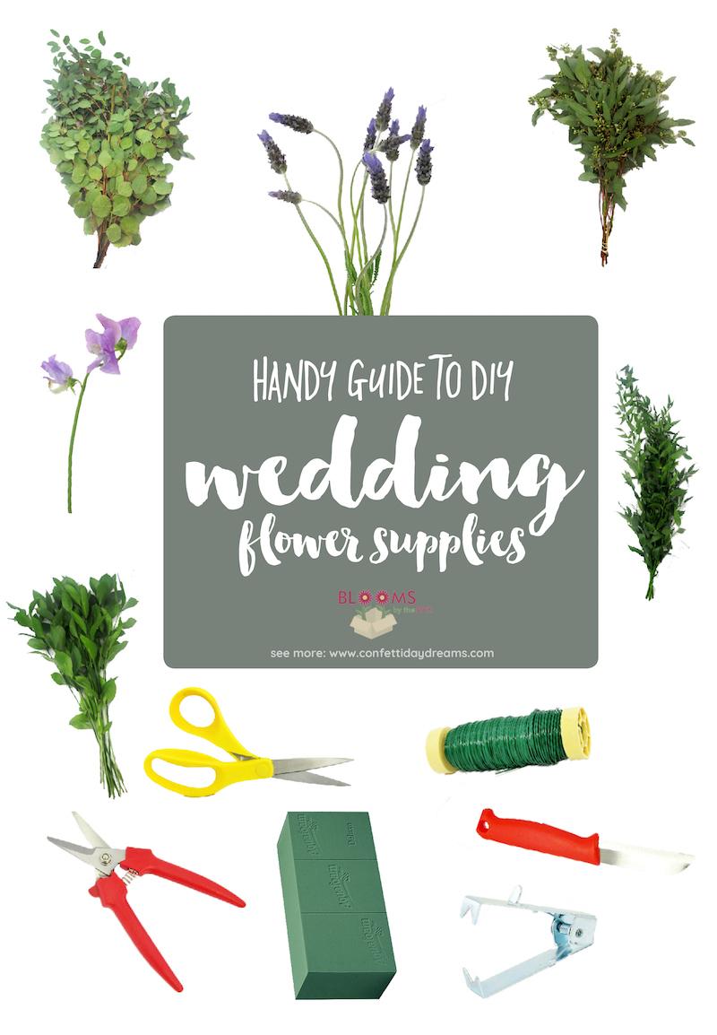 Guide to DIY Wedding Flower Supplies
