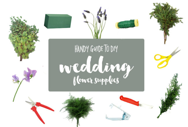 Guide to DIY Wedding Flower Supplies + Tools