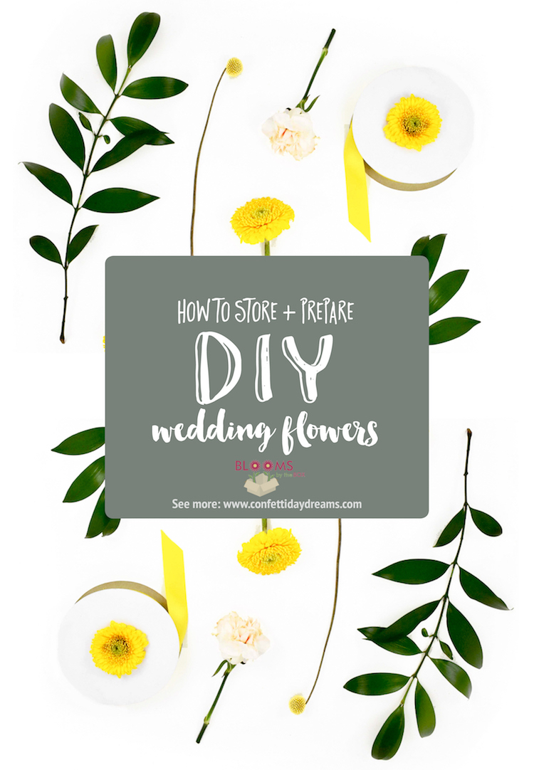 How to Store and Prepare DIY Wedding Flowers