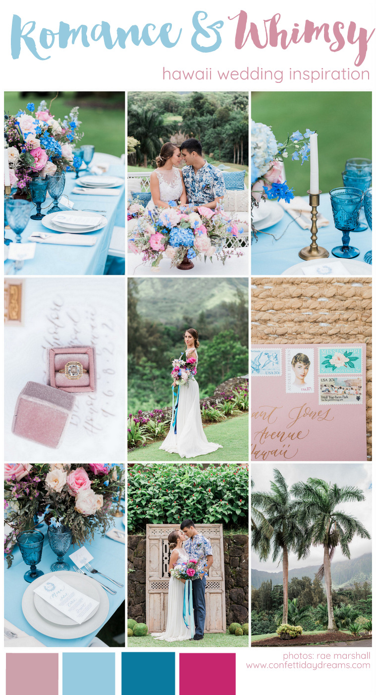 Lush Romantic Hawaii Wedding Inspiration