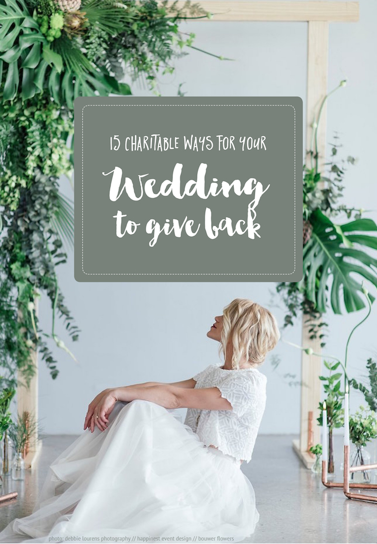 15 charitable philanthropy wedding give back ideas