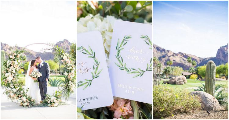Blush Mint Arizona Wedding with Circular Arch