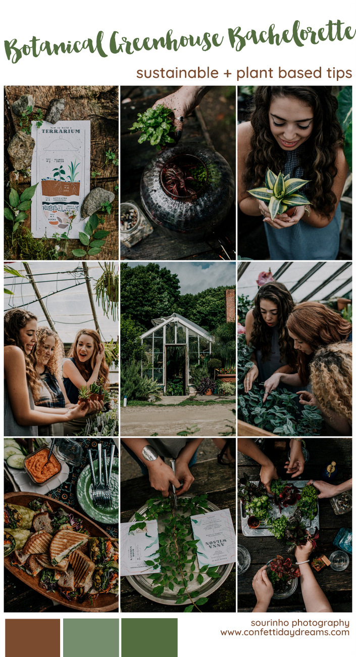 Botanical Sustainable Bachelorette Party Advice