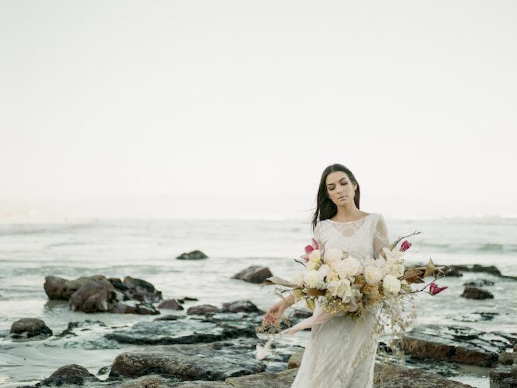 Siren Of The Cape Town Shore Beach Bridal Editorial