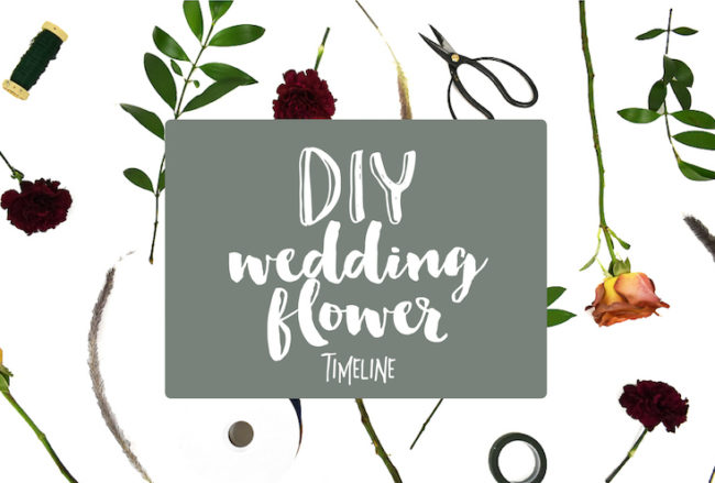 DIY Wedding Flower Timeline: How to plan your flower projects