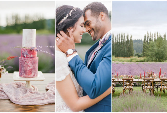 Elegant Lavender Wedding Theme with Organic Fall Accents