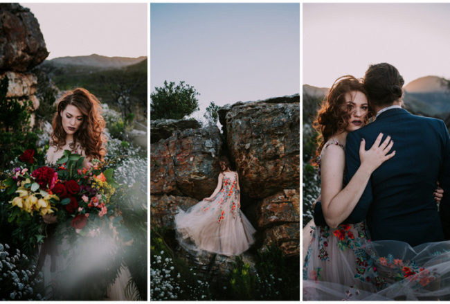 Windswept In Cape Town: Moody + Emotional Mountain Elopement