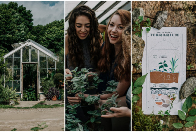 Sustainable, Vegan Bachelorette at a Greenhouse + Zero-Waste Tips