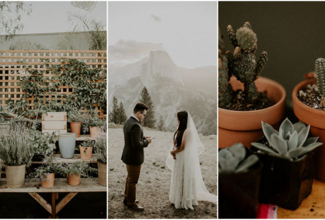 Vibrant Mexican-Style, Zero-Waste, Vegan Taqueria Wedding in LA!