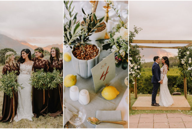Earthy Vegan Wedding with Mediterranean Details