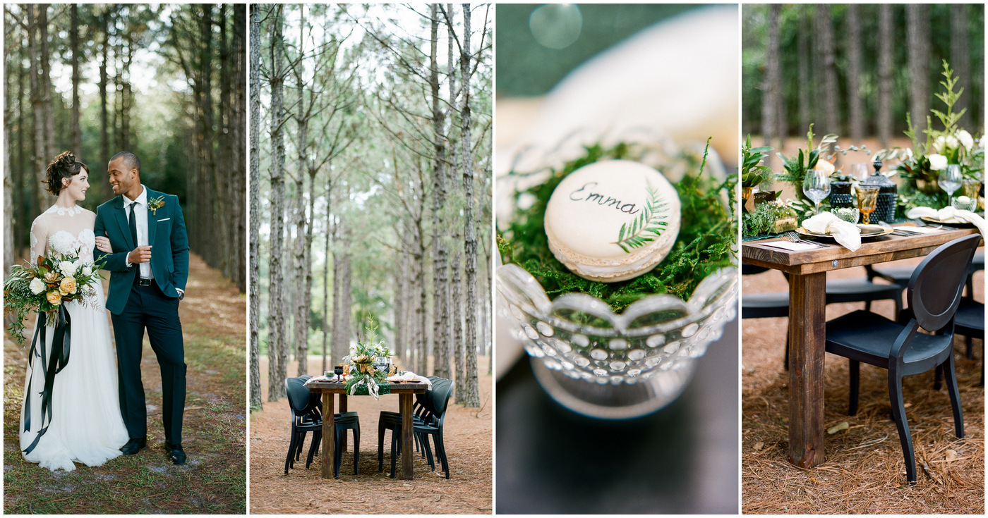 Outdoor Festive Season Wedding in Woods