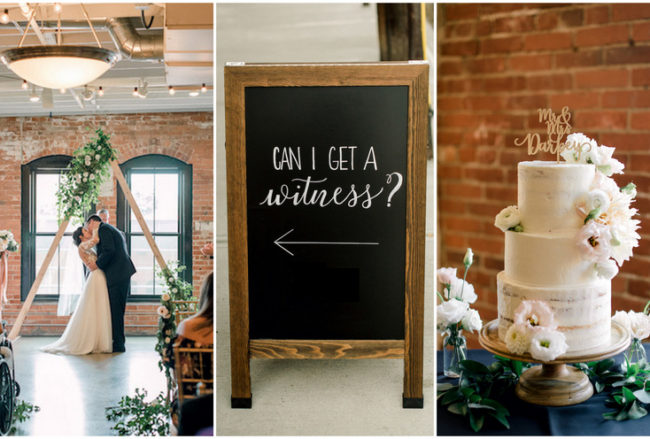 Romantic Mid-Century Modern Wedding with Industrial Touches