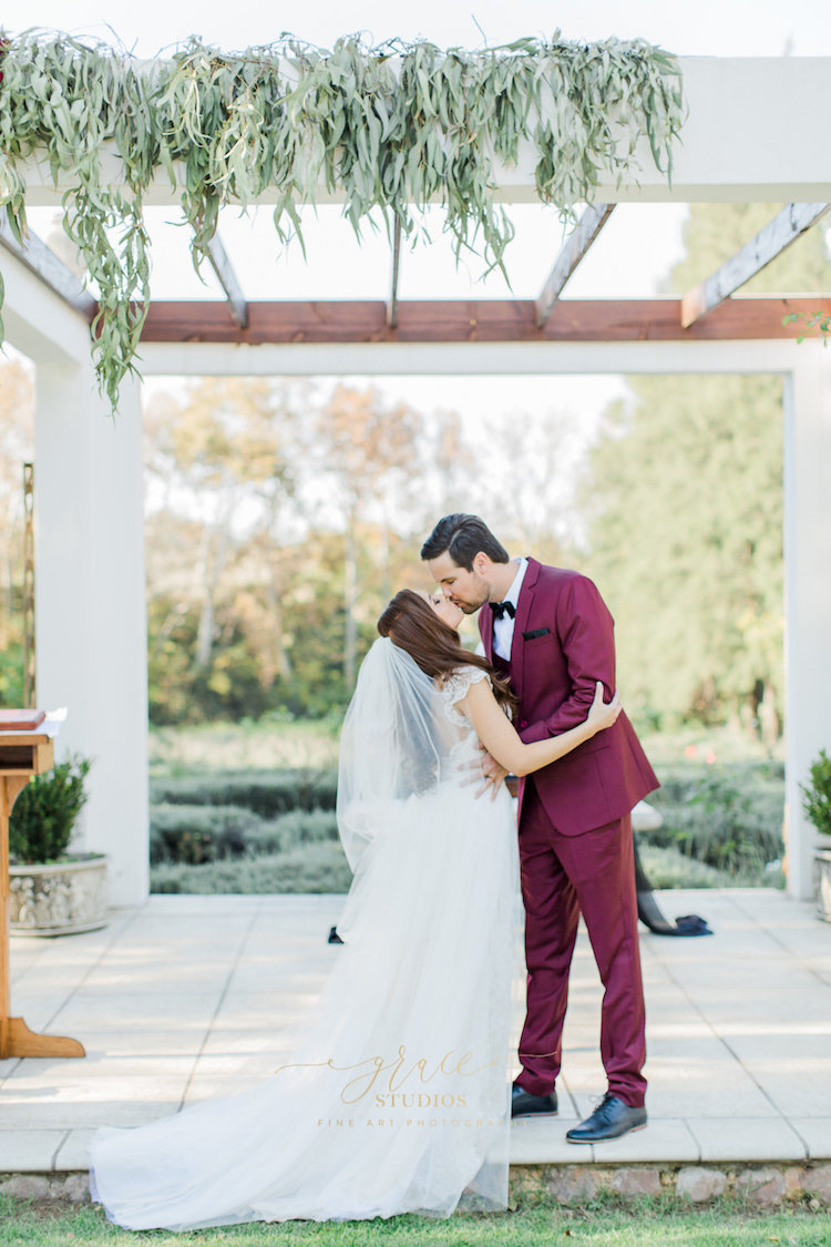 Burgundy, Gold + Black Geometric Wedding Inspiration
