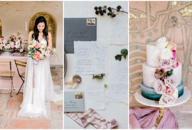 Elegant + Romantic Outdoor Spring Wedding at Allied Art Guild Gardens