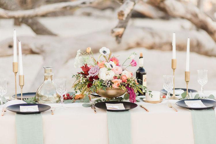 Bohemian Beach Wedding