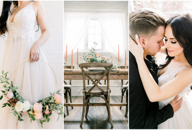 Exquisite Coral, Blush and Gold Wedding Ideas inspired by Pantone's Living Coral