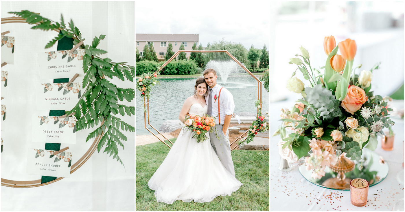 Coral Mint Rose Gold wedding theme